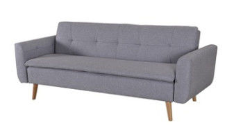 Gray Moveable Convertible Sofa Bed / Home Decoration Lightweight Sofa Bed